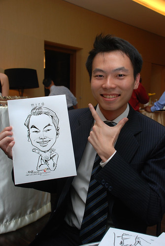 Caricature live sketching for Far East Organisation SPH Media Night The Miro 5