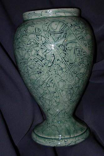 Lace pottery vase by Kristen Von Hohen