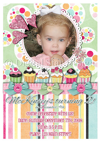 Birthday Invitation Example, 5x7, full size