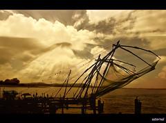 Chineese Fishing nets (saternal) Tags: kochi aplusphoto chineesefishingnet saternal cheenivala