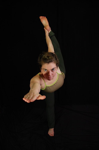 Megan in Standing Bow Pose