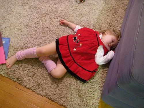 sleeping birthday girl