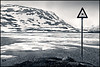 brrrr.. swimming (heavenuphere) Tags: bw lake snow mountains cold ice sign norway landscape brrrr noorwegen haukeli splittoning haukelifjell haukeligrend