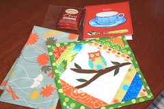 Thanks Sew Like Sue.... (Made_in_Monty) Tags: cute swap owl mug rug srappy