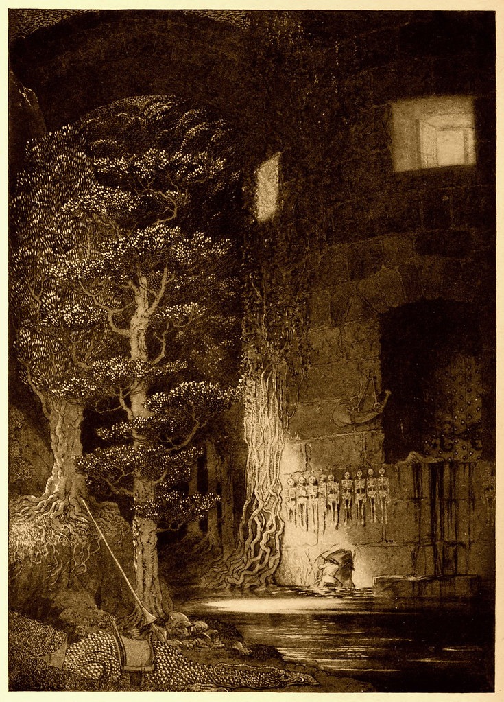 Sidney Sime - There The Gibbelins Lived And Discreditably Fed (1912)