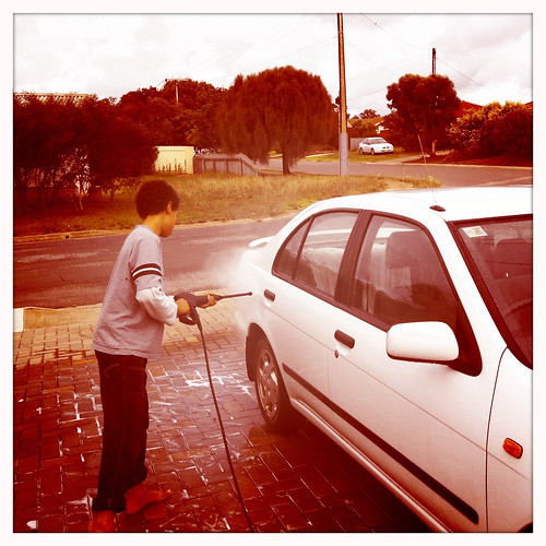 He's washing my car. Day 201/365
