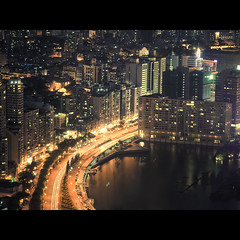 (jim_213) Tags: road bridge light sea night buildings stream sony macau a55 sal1680z