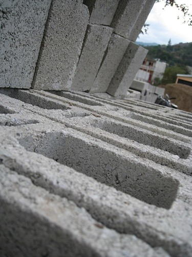 Construcción con bloques de hormigón