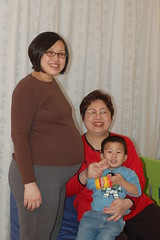 Mommy, Ah Mah, and me