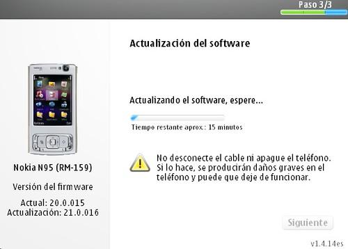 Actualizando el Nokia N95 a v21