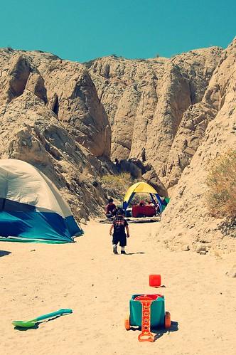 deserted sand toys in the desert