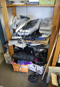 Old keyboards are abandoned for newer, cleaner versions.
