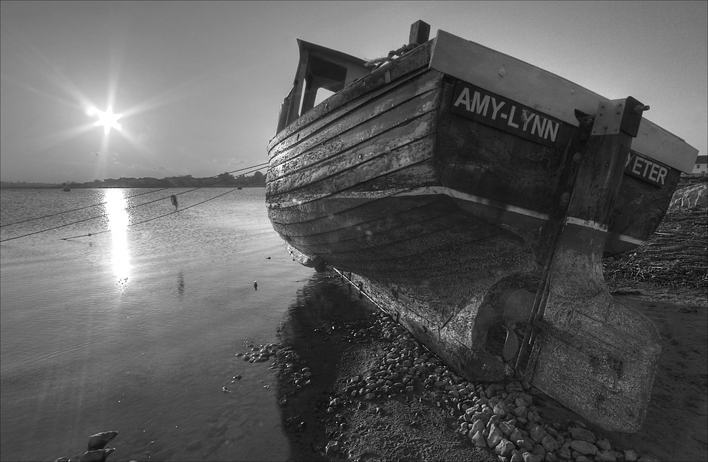 Chichester Boat HDR B&W