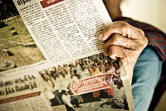 News (knowsnotmuch) Tags: grandma reading newspaper hands dof nails tamil pp 459 35mmf2 explored