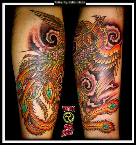 Fenix Tatuada, Phoenix Tattoo by Pablo Dellic