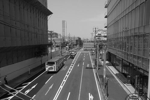 歩道橋より