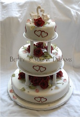 Swans (Bettys Sugar Dreams) Tags: roses weddingcake hamburg swans rosen hochzeitstorte torte sulen schwne torten hochzeitstorten bettyssugardreams sugardreamsde