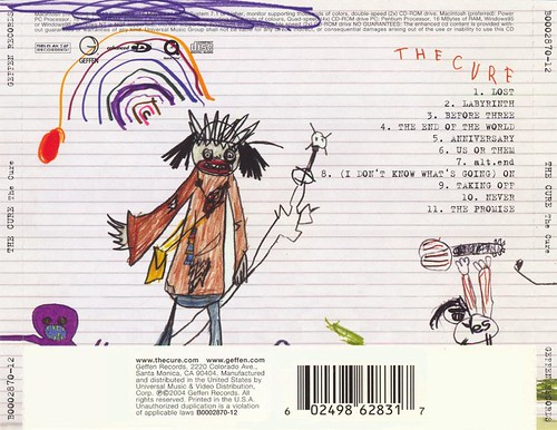 The Cure: self titled 2004 (rear insert)