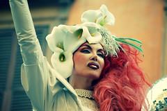 I'm beautiful (bryenh) Tags: rome roma nikon pride rights gaypride orgoglio manifestazione diritti fuxia d40 muccassassina