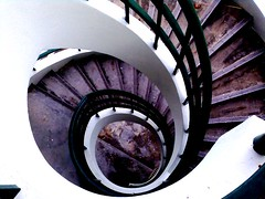 winding stairs in my school.. by disenchantment