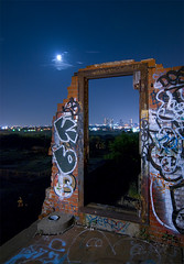 The Doorway (Noel Kerns) Tags: urban abandoned night ruins texas fort packing meat worth swift exploration urbex stockyards