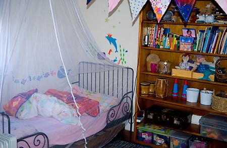 Izzy's side of the bedroom