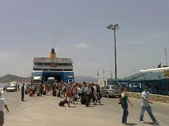 Einschiffen in Naxos