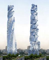 Фото 1 - В мире появятся вращающиеся небоскребы