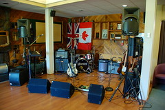 Neurotics setup at Chilliwack Golf and Country Club