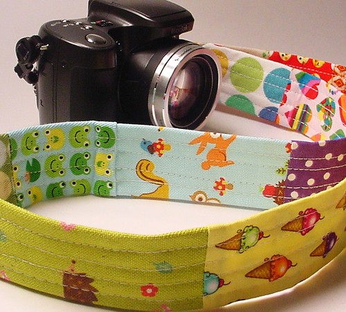 kawaii patchwork camera strap 005