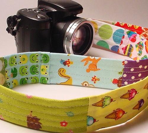 kawaii patchwork camera strap 005