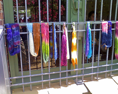 Dyeing Class- Drying Skeins