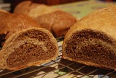 Sliced Marble Rye Loaf