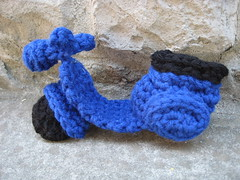 medium crocheted Who scooter