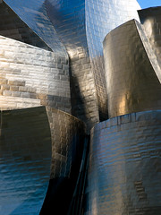 (Topyti) Tags: espaa museum spain olympus bilbao explore guggenheim frankgehry metalic spagna zd