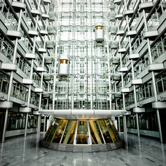 Lifted (dmoch) Tags: berlin topf25 architecture modern germany design hall topf50 topf75 lift interior elevator retro explore leh futuristic nicholasgrimshaw ludwigerhardhaus grteltier pentaxk10d pentaxda1645mmf4