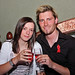 Helen Kerr and Stephen Cupples attend the red ribbon charity bash at Grace Neill's in Donaghadee