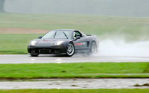 NSX in the rain