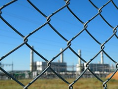 fenced (AgusValenz) Tags: blue sky plant industry azul fence nikon industrial factory cielo soviet coolpix cerca fenced centralasia kazakhstan valla eurasia cercado atyrau p80   karabatan