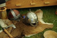 viking gear (anniedaisybaby) Tags: history tourism festivals culture manitoba recreation viking gimli reenactors interlake helmets encampment norse historicalreenactment icelandicfestival vikingvillage costumedactors