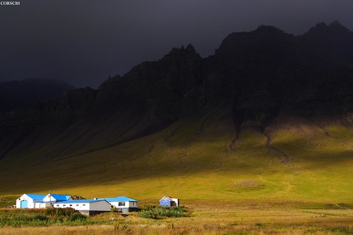 Iceland, Miklaholtssel (a farm in Iceland: light, dark)