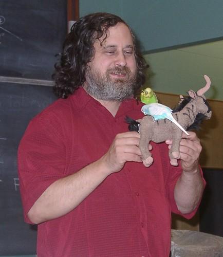 Richard Stallman at the University of Auckland, August 9, 2008