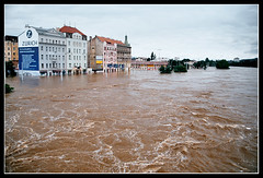 14 August 2002 - Biggest flood in history came to the Prague (FotoBob#) Tags: 2002 fuji prague flood superia praha vltava moldau pentaxmz5n povode povodn