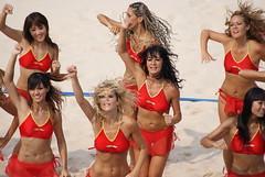 Olympic Cheerleaders (bleublogger) Tags: china girls red sexy beach sports topv2222 cheerleaders topv1111 bikini volleyball olympic 2008 topv3333 lots melikey inchina