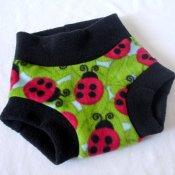 **$0.01 First Class Shipping** Lovely Ladybugs! Inspired Fleece Diaper Cover (Med)