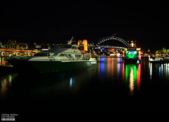Circular Quay (Harbour Bridge) (Kyaw Photography) Tags: bridge sky night canon boats eos long exposure harbour tripod sydney scene quay darling circular 450d