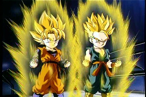 dragon ball z super saiyan gotenks. Goten amp; Trunks Super Saiyans