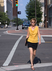 The Hunt (dart5150) Tags: street city me girl us women legs attitude tulsa ok miniskirt unemployed over50 jobhunting