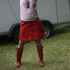 Red wellies (Nick Caro - Photography) Tags: red square skirt caro caravan wellies nickcaro nickcarophotography wwwnickcarophotographycouk