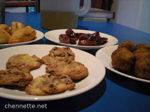 Ramadan 5: Iftar 4: Cookies, Kibbe, Dates and Fish Pies
